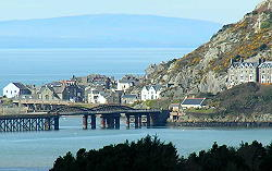 barmouth wales - across the estuary from the faribourne steam railway
