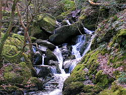 waterfalls in snowdonia national park in wales